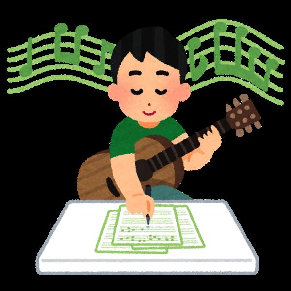 Music sakkyoku guitar man